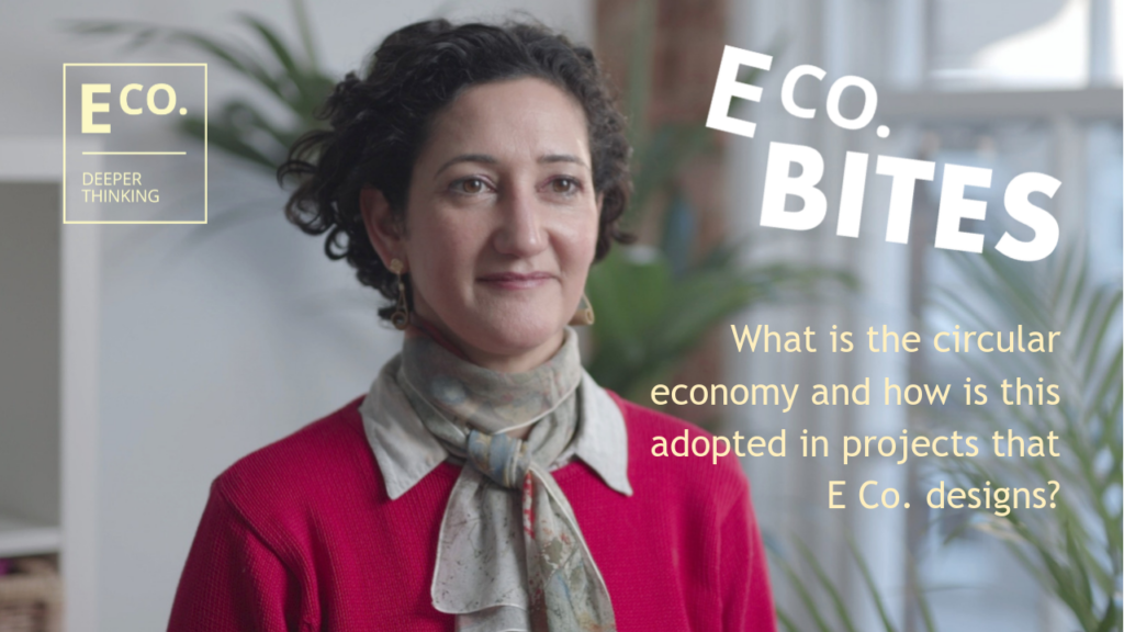 E Co. bites: What is the circular economy and how is this adopted in projects that E Co. designs?