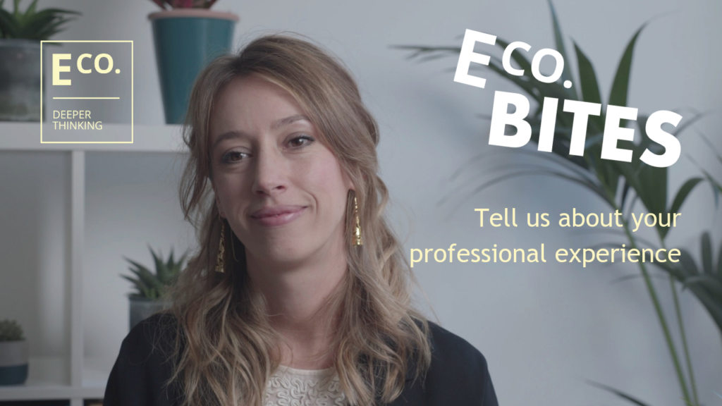 E Co. bites: Tell us about your professional experience (Dr. Silvia Emili)
