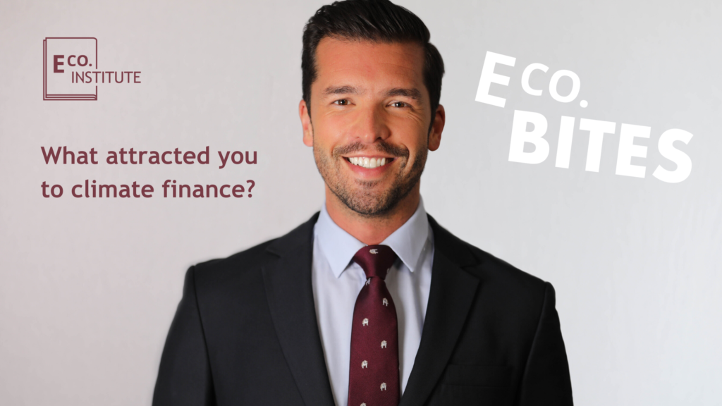E Co. bites: What attracted you to climate finance?