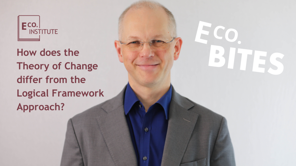 E Co. bites: How does the Theory of Change differ from the Logical Framework approach?