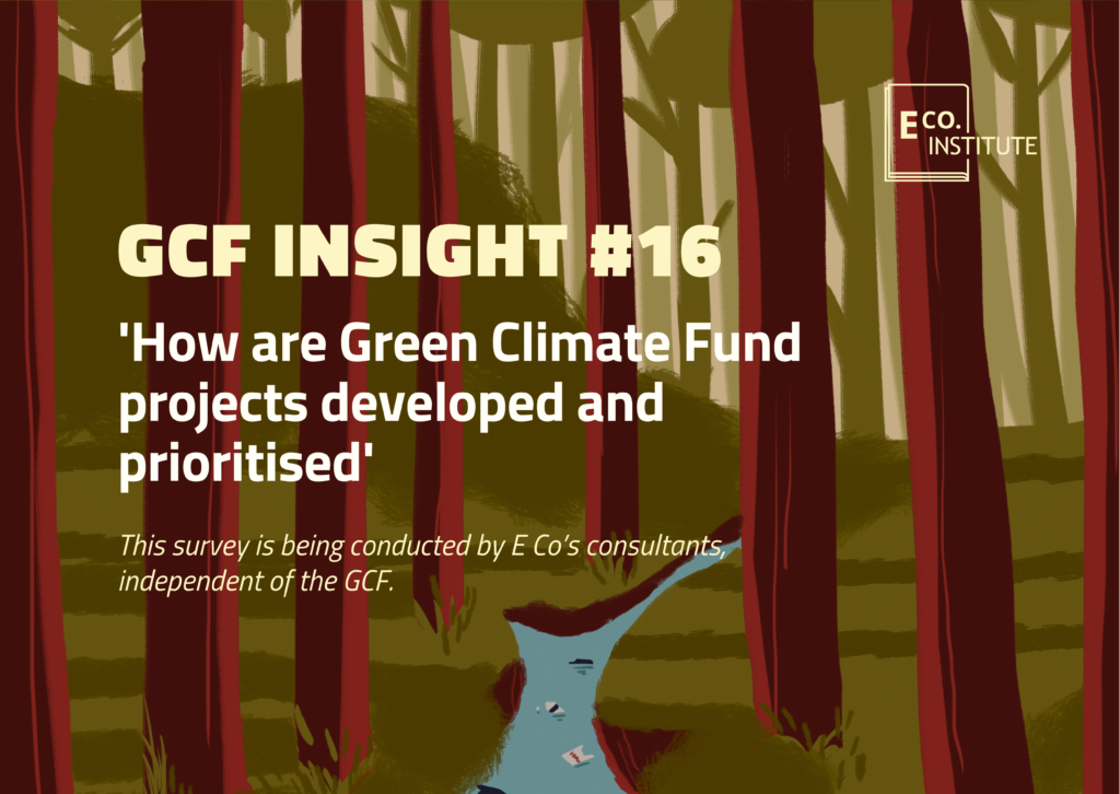 GCF insight #16 – How are Green Climate Fund project pipelines developed and prioritised?
