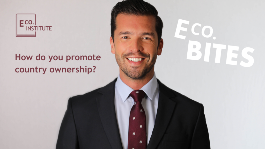 E Co. bites: How do you promote country ownership?