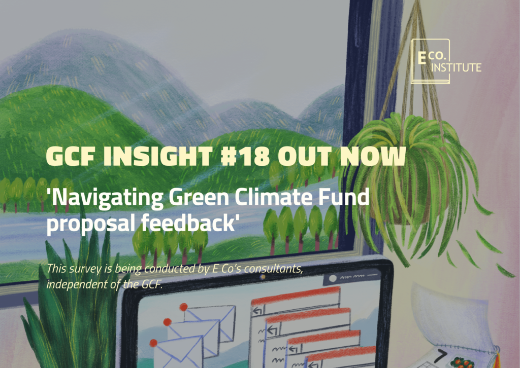 GCF insight #18: 'Navigating Green Climate Fund proposal feedback'
