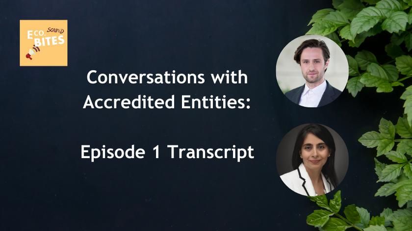 E Co Sound bites: Conversations with AEs Episode 1 Transcript – FMO & Eversource Capital