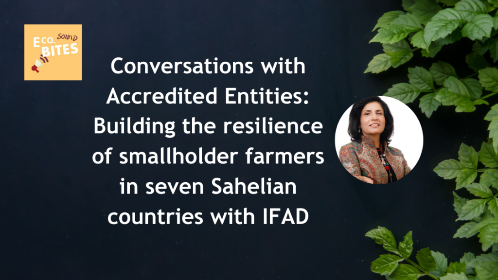 E Co. Sound bites: Building the resilience of smallholder farmers in seven Sahelian countries with IFAD – Conversations with AEs
