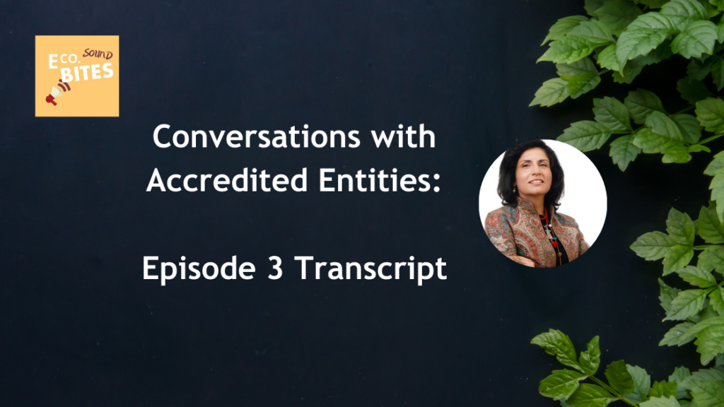 E Co Sound bites: Conversations with AEs Episode 3 Transcript – International Fund for Agricultural Development