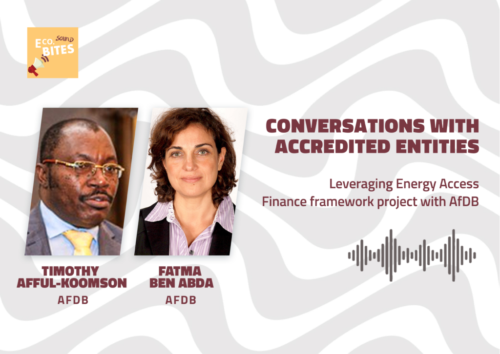 E Co. Sound bites: Leveraging Energy Access Finance Framework project with AfDB – Conversations with Accredited Entities