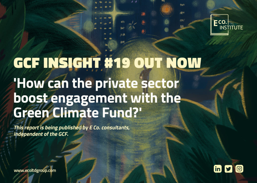 GCF insight #19: 'How can the private sector boost engagement with the Green Climate Fund?'